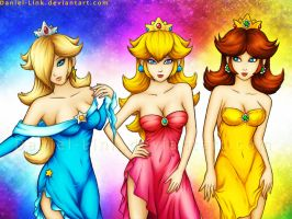 Rosalina, Peach and Daisy by Daniel-Link