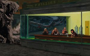 Planet of the Apes Nighthawks by Brandtk
