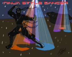 Ninja Style Dancer by DaffydWagstaff