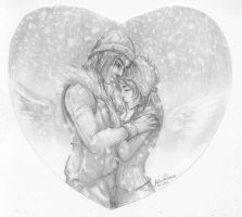 Squall and Rinoa Winter day by 00chalcedony00