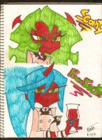 Scanty x Kneesocks by RogueArts