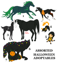 Halloween Adopties by orengel