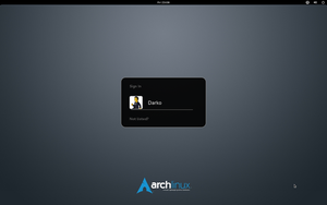 Arch Linux element GDM wallpaper by malisremac