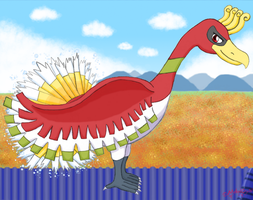 Rainbow the Ho-Oh by MelodyCrystel