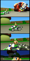 Luigi Death Stare by ZeFrenchM