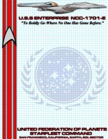 USS Enterprise E Stationary by viperaviator