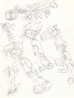 Sketches of my New Style by MaddKaze