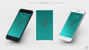 Couple wallpaper minimal iPhone 6 by Szesze15