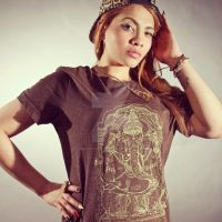 Gold Ganesh Unisex Tee by piratesofbrooklyn