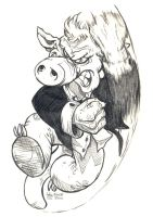 Daily Sketches Cerebus by fedde
