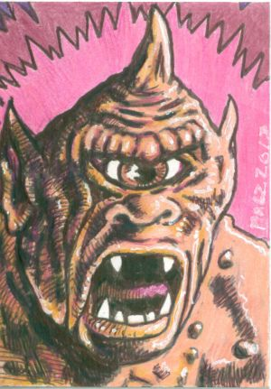 The Cyclops from 7Th Voyage of Sinbad Sketchcard