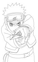 Obito Sharingan Lineart by CrypticRiddlers