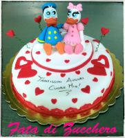 Donald and Daisy Duck cake by Dyda81