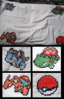 Pokemon Starters Pillow by blackphantom1412