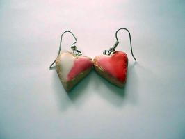 Heart Sugar Cookie Earrings by UneGlaceRose