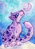 Purple Snowy Leopard by Starrydance