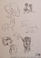 Doodle Page- Animaux by barish-ki-boond