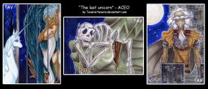 ACEOs: The Last Unicorn by Tavaris
