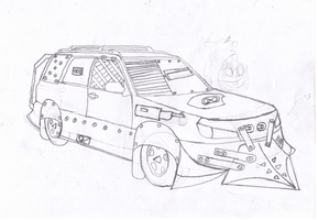 Black Napalm's Subaru Forester (sketch) by BlackNapalmPony