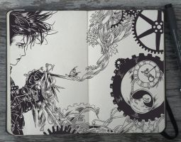 #108 Edward Scissorhands by 365-DaysOfDoodles