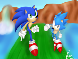 .:2 Hedgehogs, Same Guy:. by Rokitoki