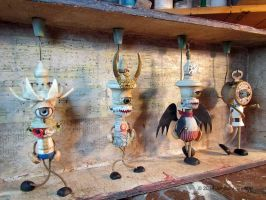 Assemblage: Puppets, work in progress by bugatha1