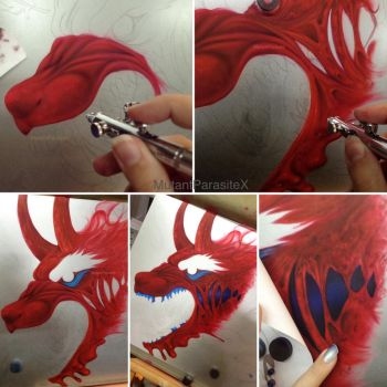 Airbrush Project: Digi - WIPS 1-4 by MutantParasiteX