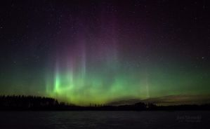 Wall Of Northern Lights by JoniNiemela