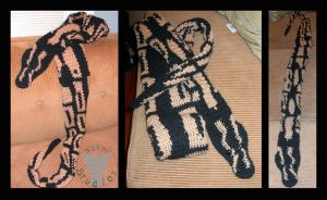Ball Python Scarf Commission by TheCrochetDragon