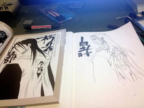 Anime Drawing Byakuya by Latino157