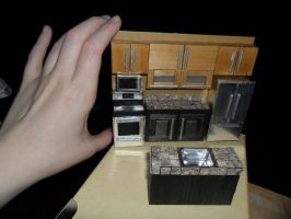 Foamcore Dollhouse's Kitchen/Dining Room WIP 2 by kayanah