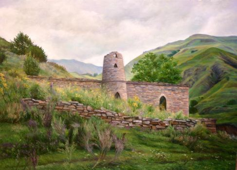 The ruins of an old mosque by Mulqland