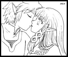 Line art- Kiss Zelink SS by zilia-k