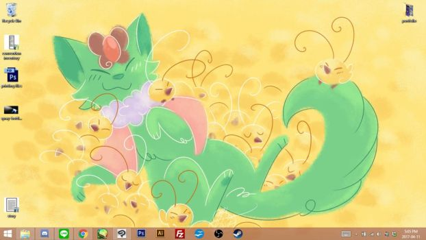 April 2017 Support Wallpaper by ClefdeSoll