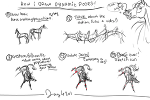 How I Draw Dynamic Poses by Jag6201