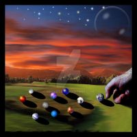 Cosmic game of Marbles by MrParts