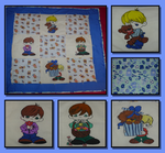 Boys Baby Blanket by DabysCreations