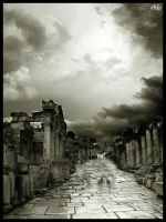 Ephesos Main Street by orcunceyhan