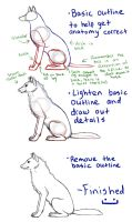 Sitting Wolf Tutorial by FelonDog