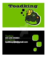 Toadking Business Card GrnBlck by toadking07