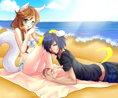 :CE: Cuddling in the summer breeze by Desiree-U
