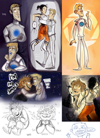 Portal 2 doodles by SIIINS