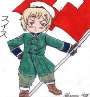 Chibi Swiss Patriot by Shinigami-no-Miko
