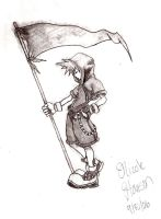 Sora and his flag. by phangirl