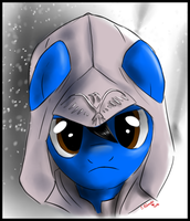 Headsketch Commission - Assassin pony by FuriarossaAndMimma