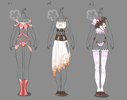 Some Outfit Adopts #12 - sold by Nahemii-san