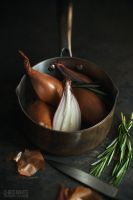 Shallots and Rosemary by chriswhite87