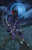 Huntress of the Night by AuranCreations