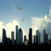 Houston Downtown 2 by foureyestock