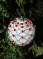 Silver and Red Bauble 2 by LDOTT